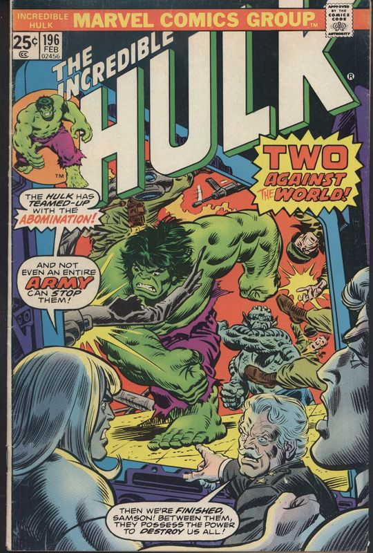 <em>The Incredible Hulk</em>Issue 196 Cover