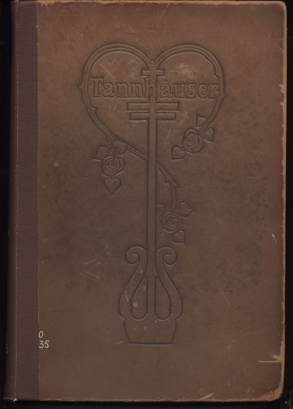 Cover of <em>Tannhauser: </em>A dramatic poem by Richard Wagner(1813-1883), freely translated in poetic narrative form by T.W. Rolelston(1857-1920), illustrated by Willy Pogany(1882-1955)