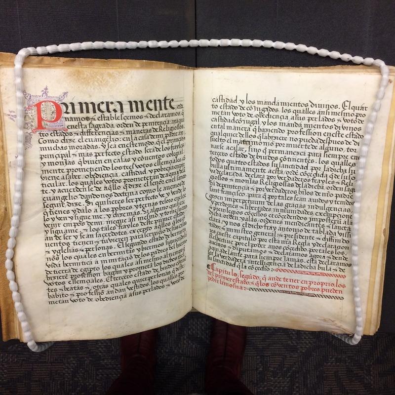 First chapter of<em>Regla de la Sagrada Orden de Penitencia.</em>