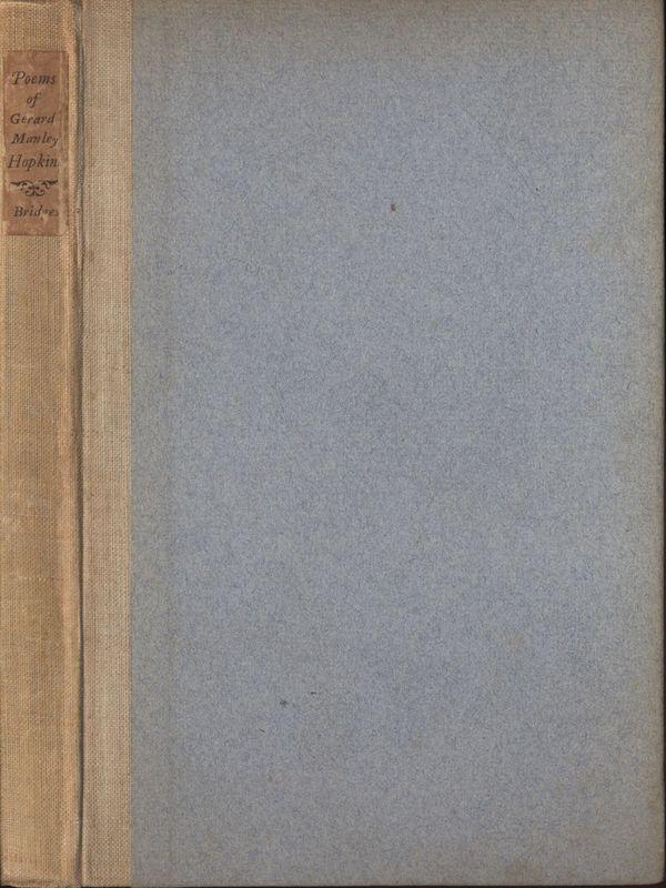 Cover of <em>Poems of Gerard Manley Hopkins</em>