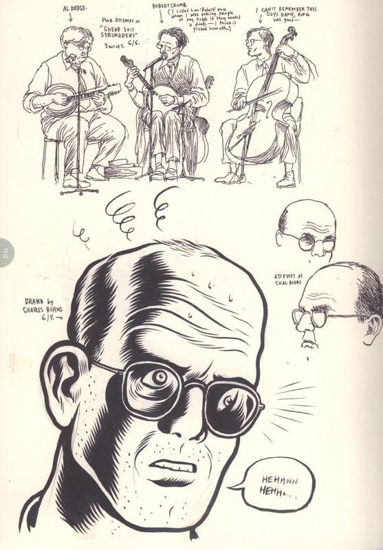 Drawing of Charles Burns
