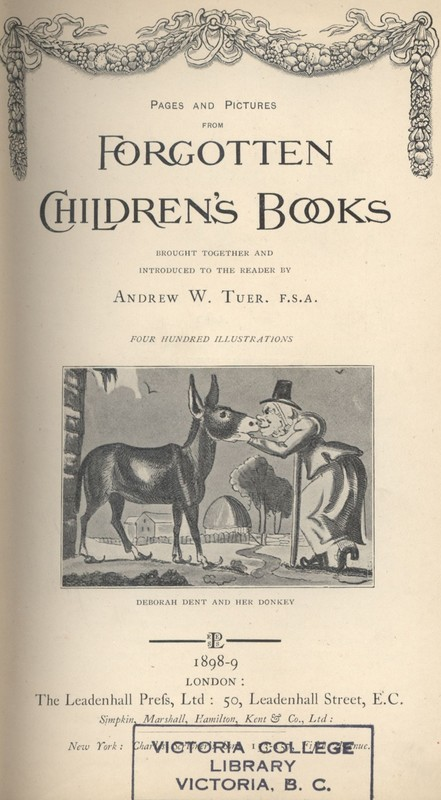 "Frontispiece to ""Pages and Pictures from Forgotten Children's Books."""