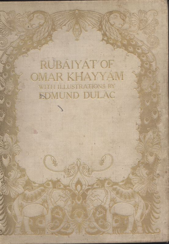 Cover Page of Fitzgerald's <em>Rubaiyat</em> Published by Hodder & Stoughton (1909)