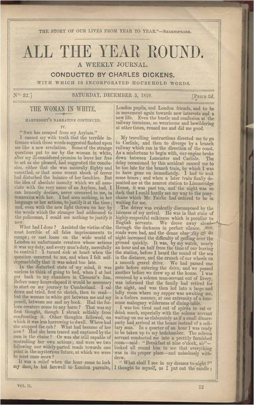 First page of Dec 3 1859 <em>All the Year Round</em>