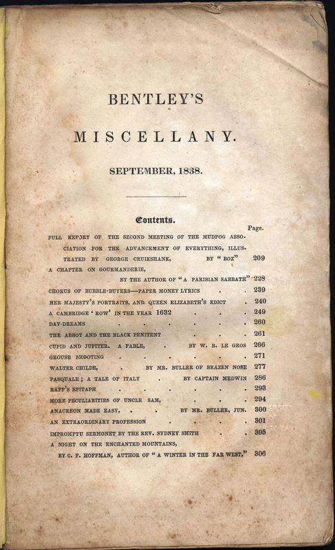 Bentley's Miscellany