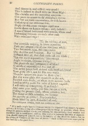 Coleridge, Poetical Works, Religious Musings Second Note