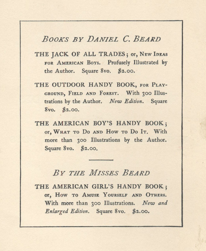 D.C. Beard's The Jack of All Trades (1900) prices