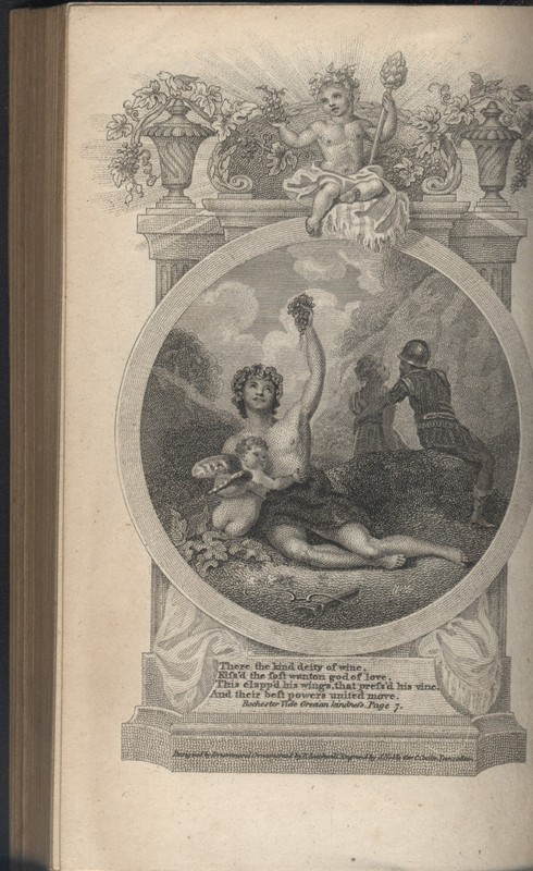 The  frontispiece for The Poetical Works of John Earl of Rochester