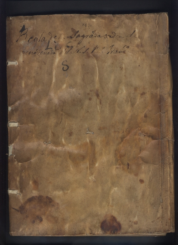 Codex cover, <em>Regla de la Sagrada Orden de Penitencia.</em>