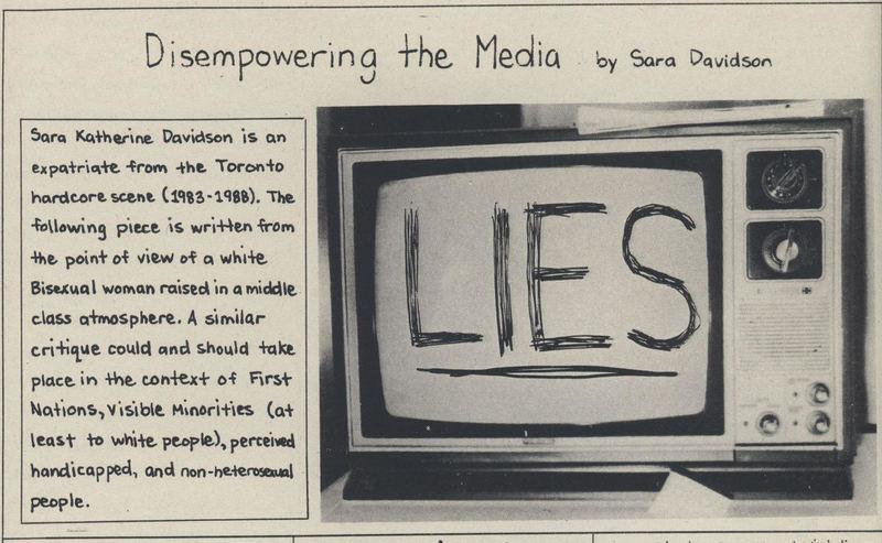 Disempowering the Media by Sara Davidson
