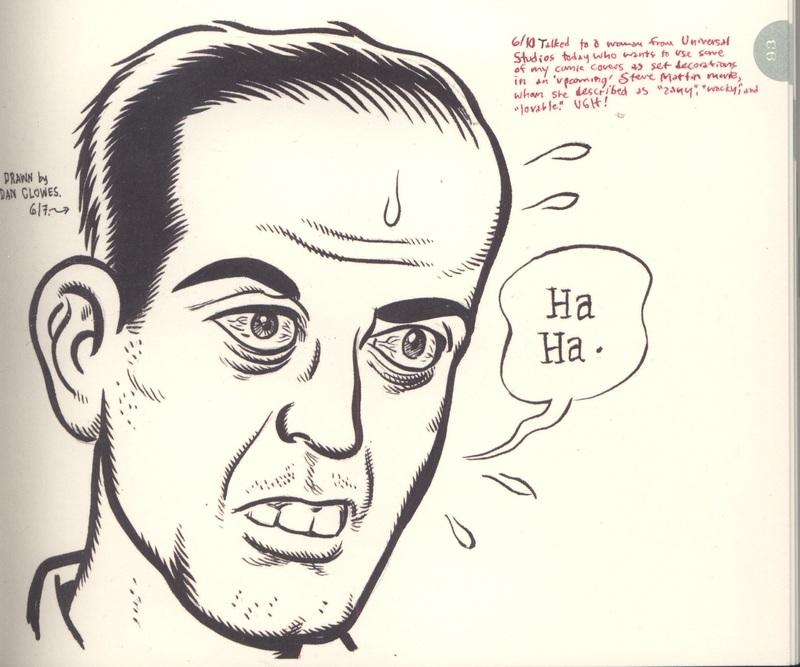 Drawing of Daniel Clowes