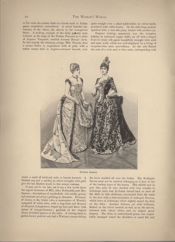 7th page of December Fashions in Woman's World Dec 1887