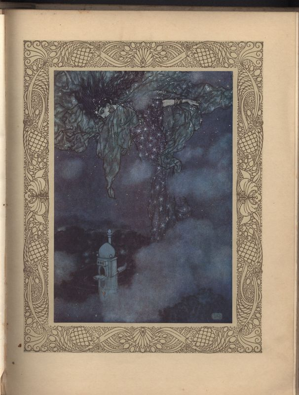 Illustration Made by Edmund Dulac for Fitzgerald's Rubaiyat Published by Hodder & Stoughton (1909)