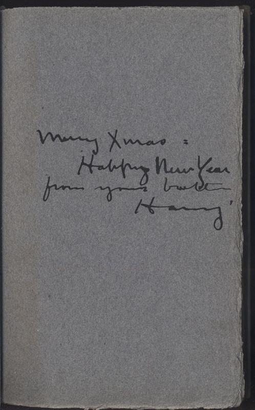 """<em>War Is Kind,</em>inscription (""""Merry Xmas"""")"""