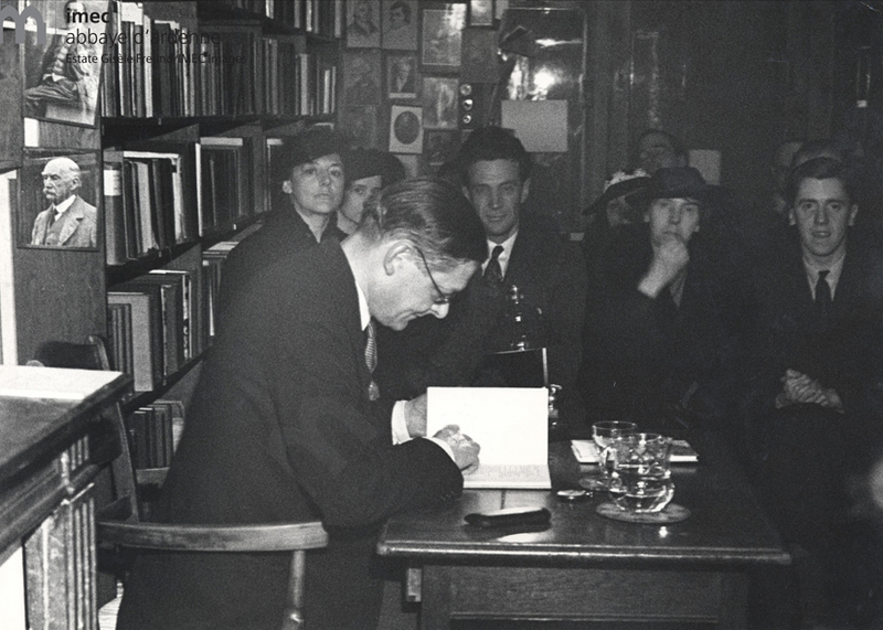 T.S. Eliot reads his poems at Shakespeare and Co. 1936