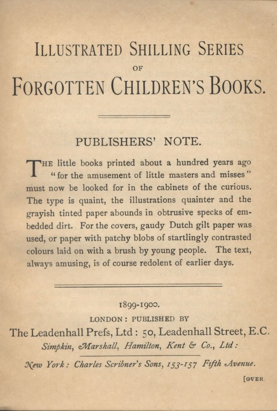 "Advertisement for ""Illustrated Shilling Series"" in ""The Cowslip."""