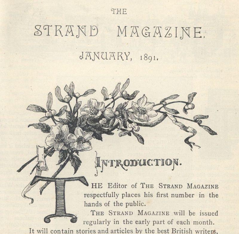 "<em>The Strand Magazine</em>, volume one ""Introduction"" page"