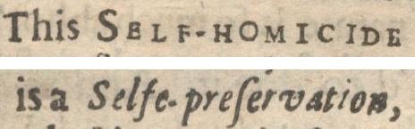 """Typography of """"selfe-preservation"""" and """"self-homicide"""" in Donne's <em>Biathanatos</em>"""