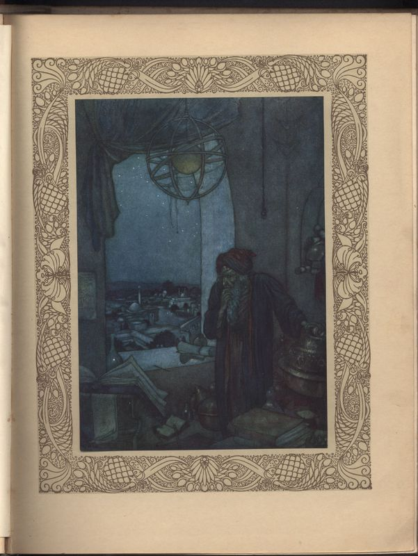 Illustration by Edmund Dulac for Fitzgerald's <em>Rubaiyat,</em> Hodder &Stoughton (1909)