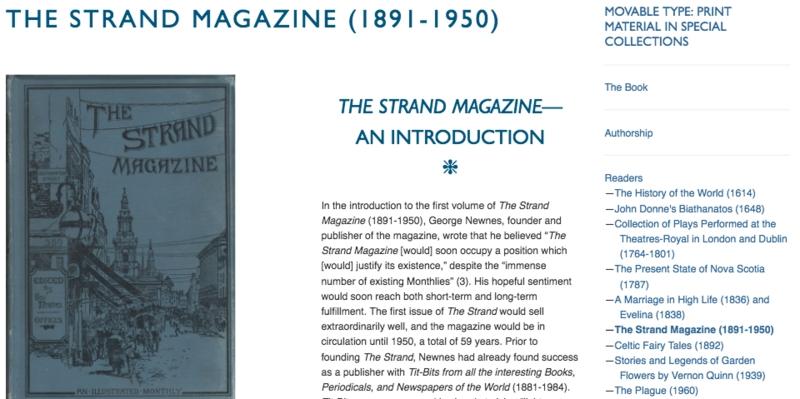 KF's remediation of<em> The Strand Magazine</em>