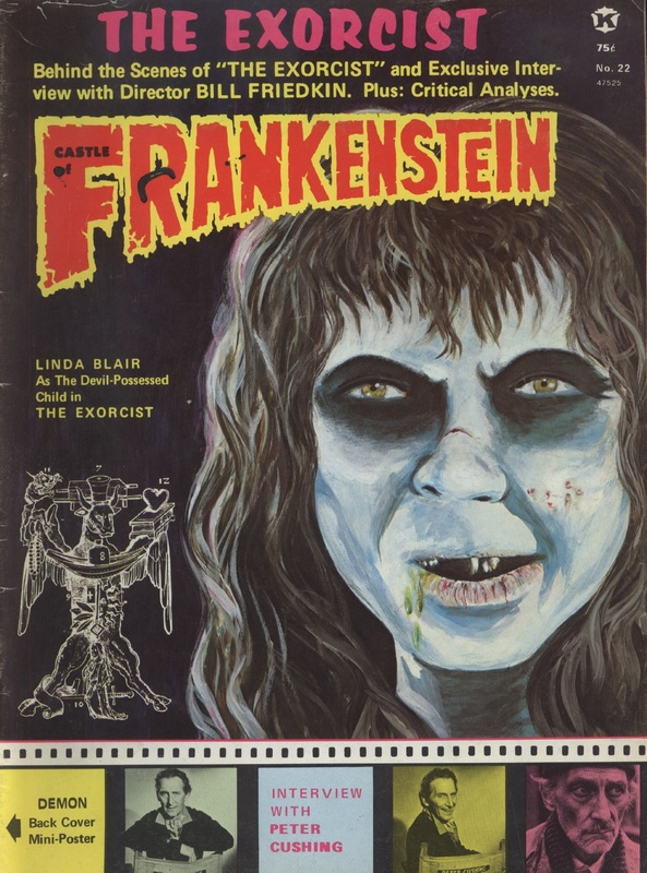 Castle of Frankenstein cover, Vol.6 No.2, Exorcist