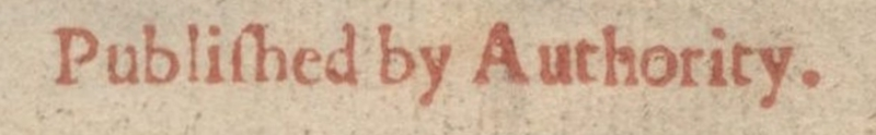 Detail of Authority on the Title Page of Donne's<em>Biathanatos</em>