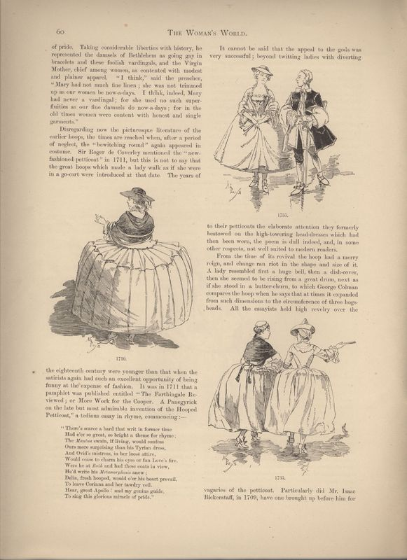 "2nd page of ""A Treatise on Hoops"" in Woman's World Dec 1887"