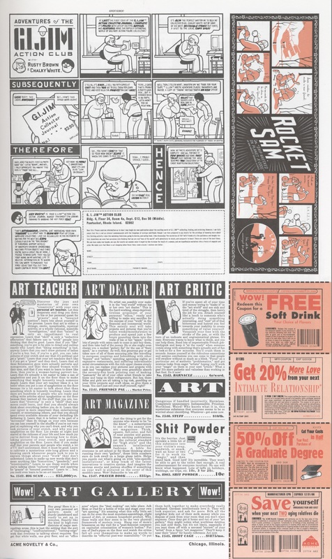 Page 69 of Chris Ware's<em>The ACME Novelty: Library Final Report to Shareholders and Saturday Afternoon Rainy Day Fun Book</em>(2005)<em><br /></em>