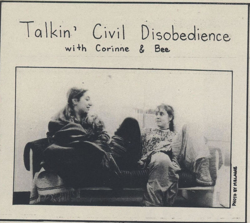 Talkin' Civil Disobedience - Corinne and bee