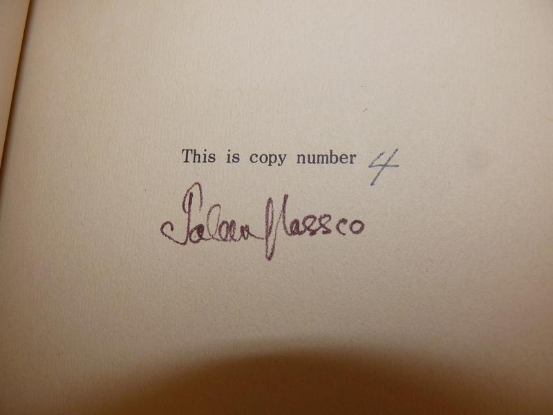 Glassco's<em>Venus in Furs</em>-signature on copy no. 4.