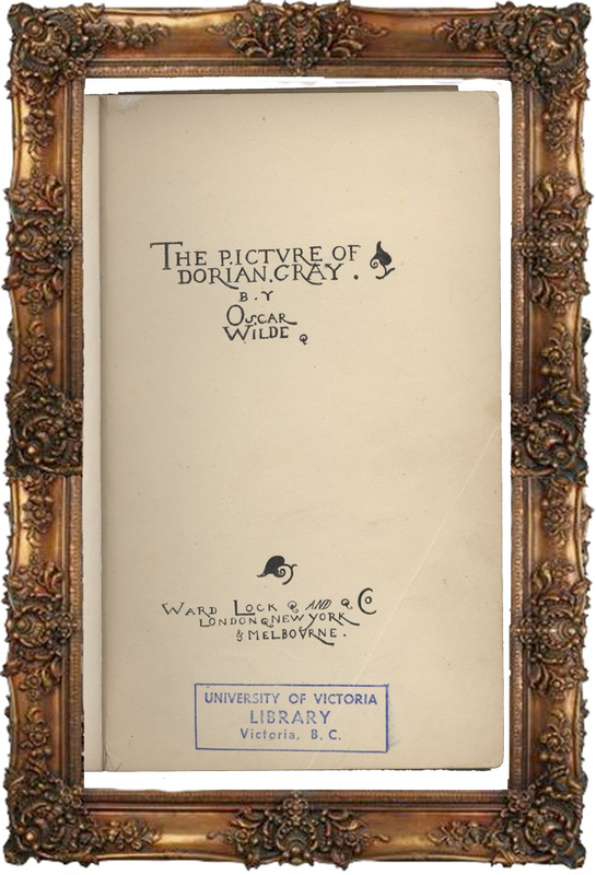 The Picture of Dorian Gray 1891 - Title Page