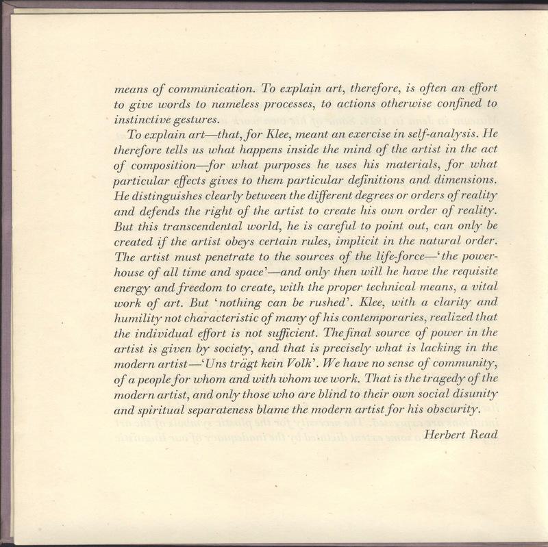 Herbert Read's Introduction