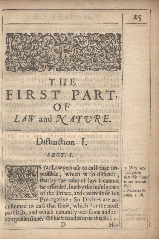 """""""Of Law and Nature"""" Section Heading of Donne's <em>Biathanatos</em>"""