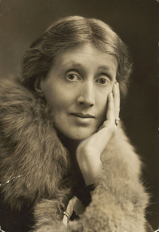 Portrait of an elderly Virginia Woolf