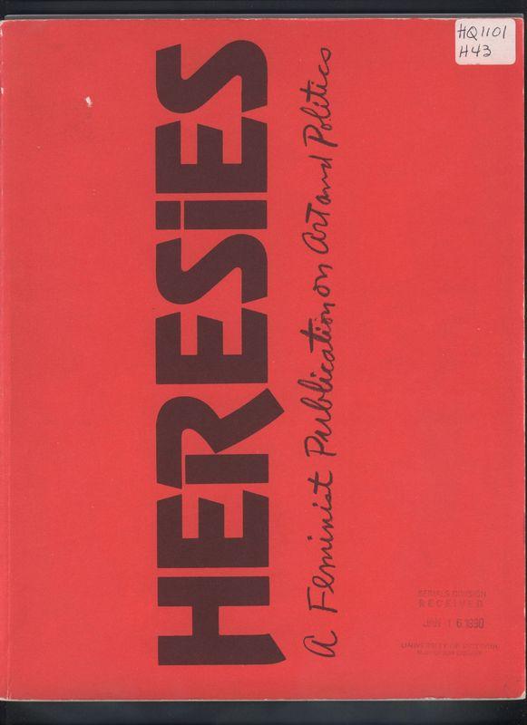 Cover of Jan. 1977's<em>Heresies</em>