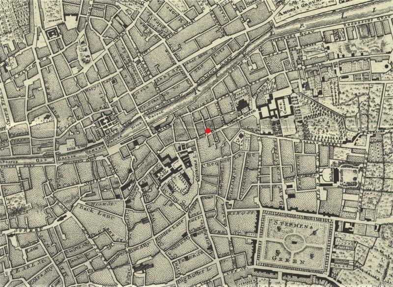 Segment of John Rocque's 1756 Map of Dublin