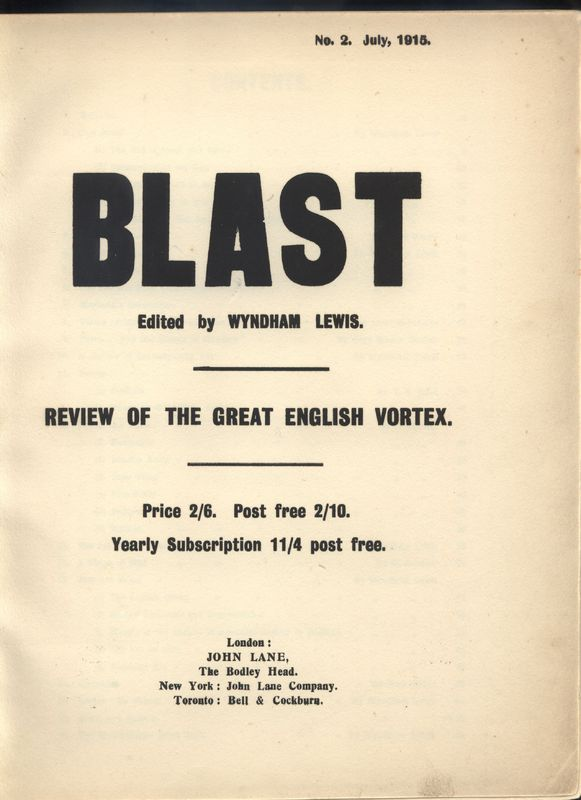 Frontispiece from BLAST 2: the War Number