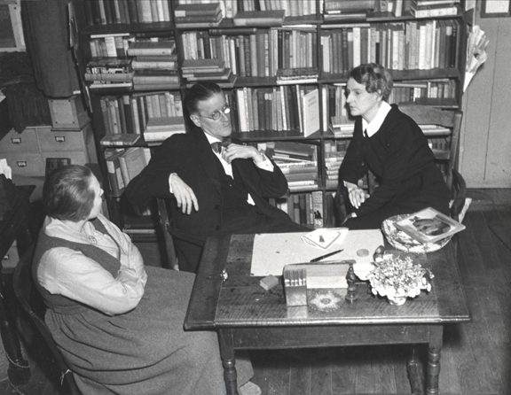 Joyce with Sylvia Beach and Adrienne Monnier at Shakespeare and Company