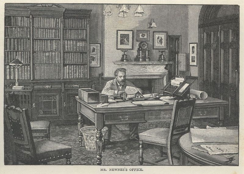 """<em>The Strand Magazine</em>, volume four, """"Mr. Newnes's Office"""" from """"A Description of the Offices of<em>The Strand Magazine</em>"""""""