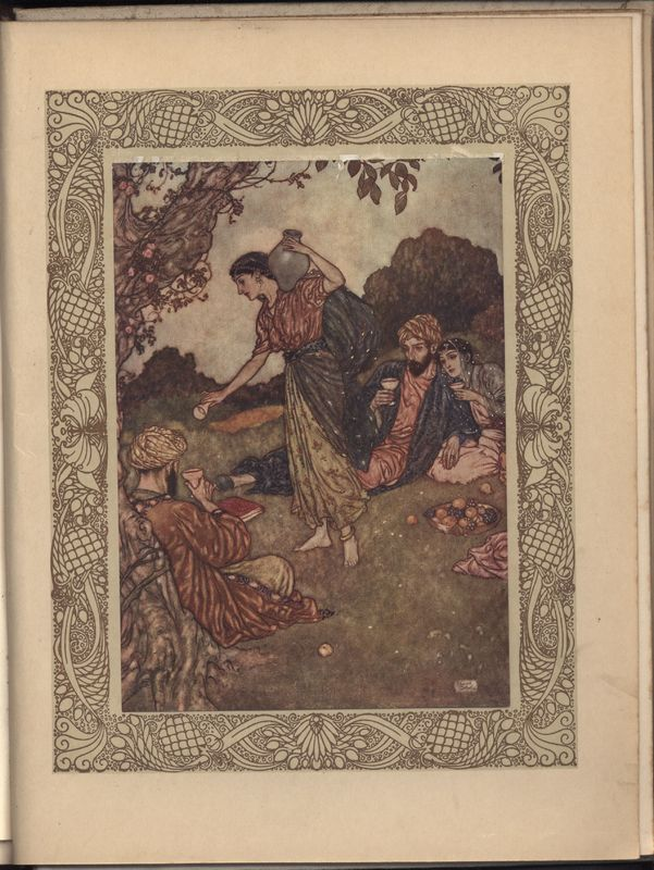 Illustration by Edmund Dulac for Fitzgerald's <em>Rubaiyat</em> published by Hodder & Stoughton (1909)
