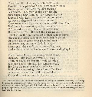 Coleridge, Poetical Works, Religious Musings Note