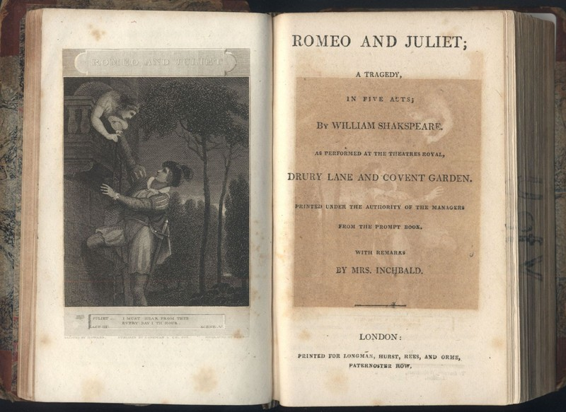 1808 Romeo and Juliet Title Page