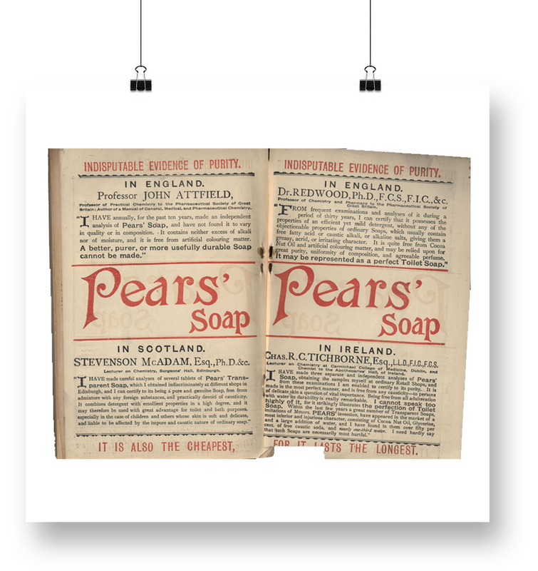 The Picture of Dorian Gray (1890) - Pears Advertisements