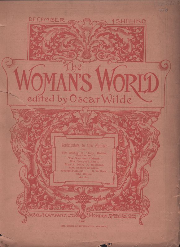 Cover 2nd issue of <em>Woman's World</em>