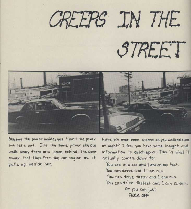 Panels 1 and 2 of Creeps in the Streets