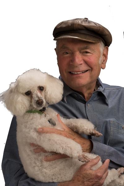 Photograph of Robert Sward and his Dog