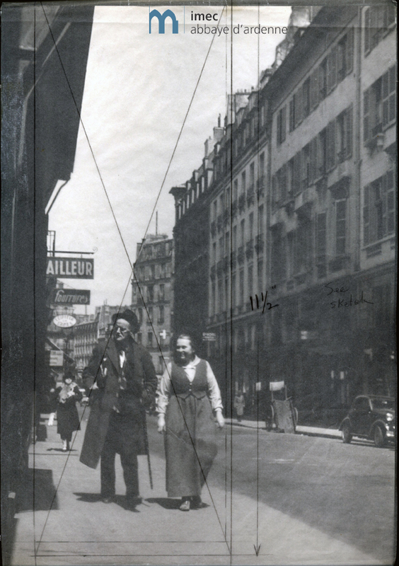 James Joyce and Adrienne Monnier in rue de l&#039;Odeon<br />