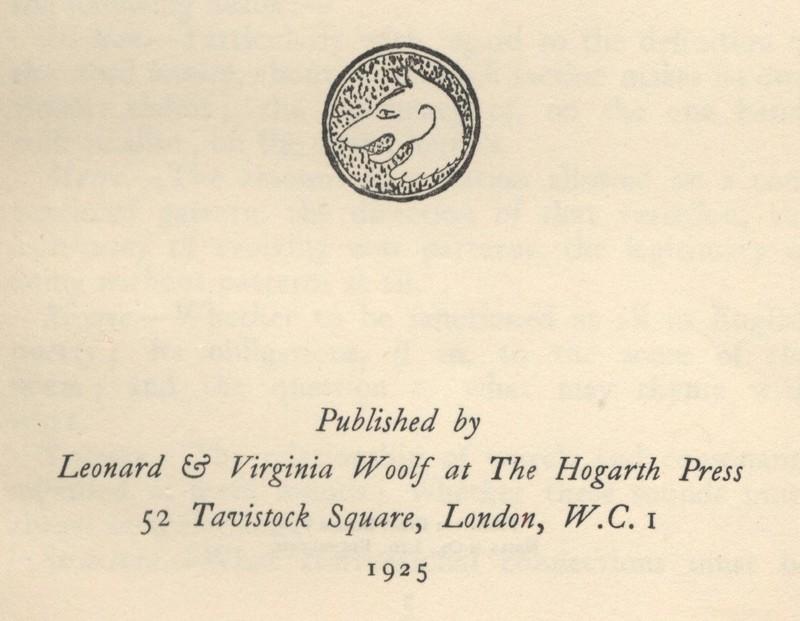 Hogarth Press Inscription