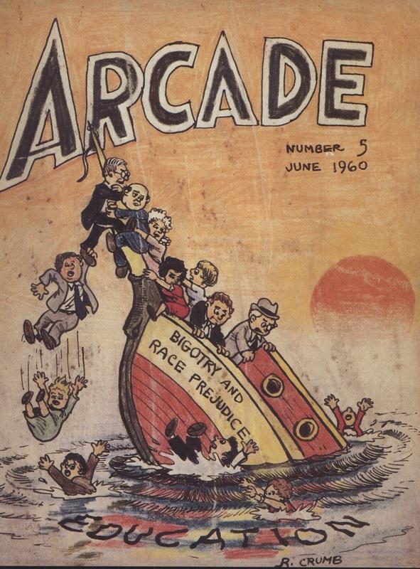 Page 89 of Vol. 1 of<em>The Complete Crumb Comics</em>, edited by Gary Groth. Cover image of<em>Arcade</em><em>No.5</em>by Robert Crumb