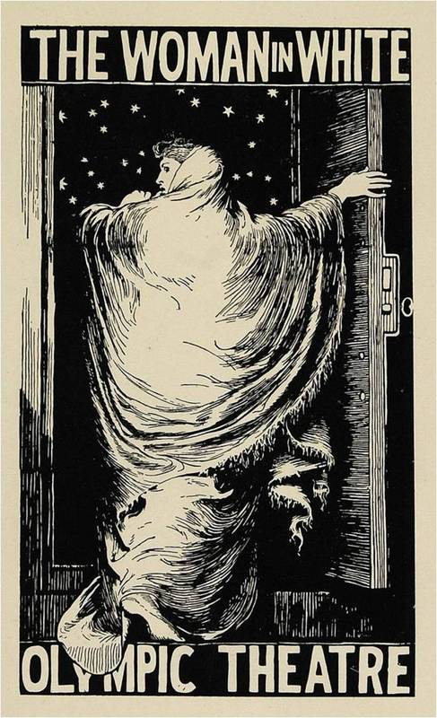 <em>The Woman in White </em>Theatre Poster by Frederick Walker